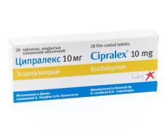 Ципралекс таблетки п.о 10мг №28