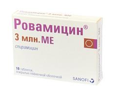 Ровамицин таблетки п.о 3млн МЕ №10