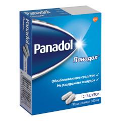 Панадол таблетки 500мг №12