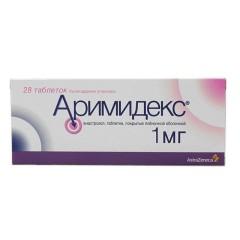 Аримидекс таблетки п.о 1мг №28