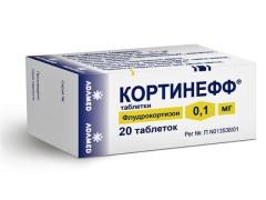Кортинефф таблетки 0,1мг №20