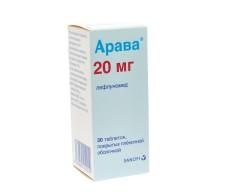 Арава таблетки п.о 20мг №30
