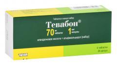 Тевабон таблетки 70мг №4 + капсулы 1мкг №28