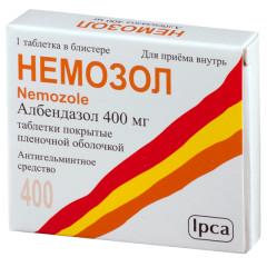 Немозол таблетки п.о 400мг №1