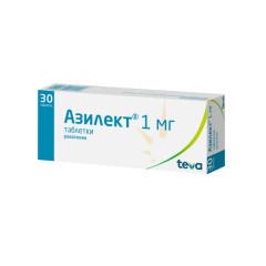 Азилект таблетки 1мг №30