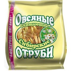 Отруби Сибирские овсяные очищающий 200г