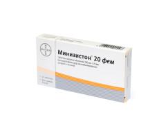 Минизистон 20 фем таблетки п.о №21