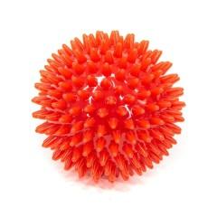 Мяч массаж. 9см красный (ежик) L0109