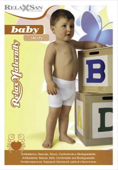 Релаксан эласт. шортики Baby Crabyon хлопок/белк. волок. 6-36мес. (5912)
