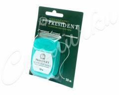 Президент зубная нить мята/фтор 50м 102