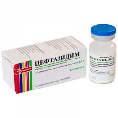 Цефтазидим порошок для инъекций 1 г №1