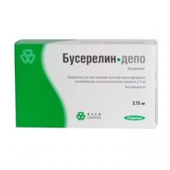 Бусерелин-депо лиофилизат для приготовления суспензии внутримышечно 3,75мг