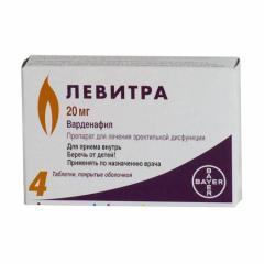 Левитра таблетки п.о 20мг №4