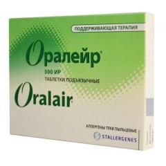 Оралейр Аллерген из смеси пыльцы трав таблетки №90 (поддерж.)