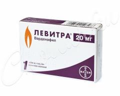 Левитра таблетки п.о 20мг №1