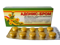 Адонис-бром таблетки п.о №20