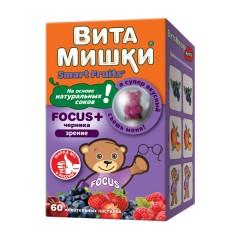 ВитаМишки ФОКУС+ жевательные паст. №60