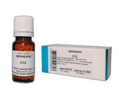 Циннабарис (Гидраргирум Сульфуратум Нигрум) С-12 гранулы 10г