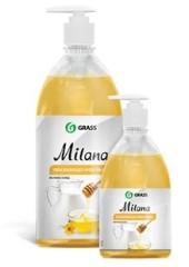Милана крем-мыло жидкое Молоко и Мёд (дозатор) 1л