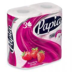 Папиа бумага туалетн. клубника №4