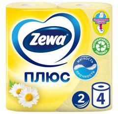 Зева Плюс бумага туалетн. ромашка №4