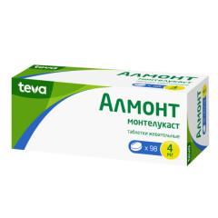 Алмонт таблетки жевательные 4мг №98