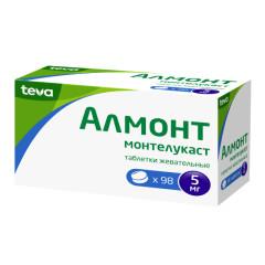 Алмонт таблетки жевательные 5мг №98