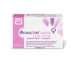 Фемостон мини 2,5мг + 0,5мг таблетки п.о №28