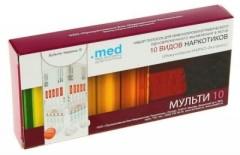 Тест ИммуноХром-10-Мульти-Экспресс д/выяв.наркотиков