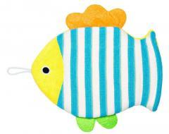 Мочалка-варежка детская Рыбка микс 143045