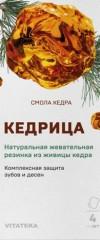Витатека Жевательная смолка кедровая 0,8г натур. №4