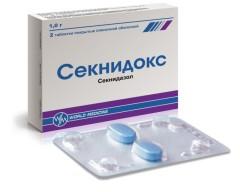 Секнидокс таблетки п.о. 1г №2