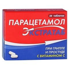 Парацетамол Экстратаб таблетки №20