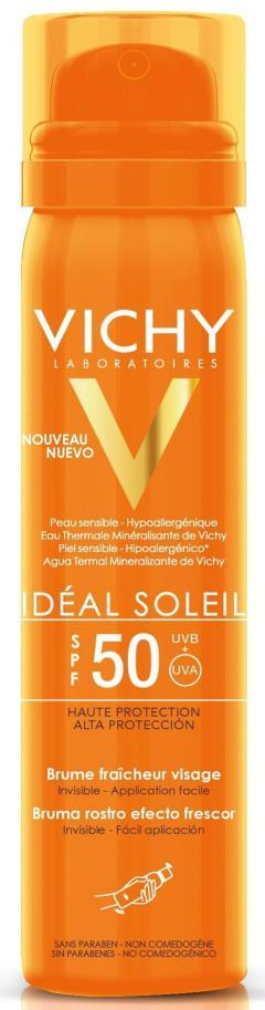 Виши Идеал Солей спрей-вуаль солнцезащитный для лица SPF50 75мл