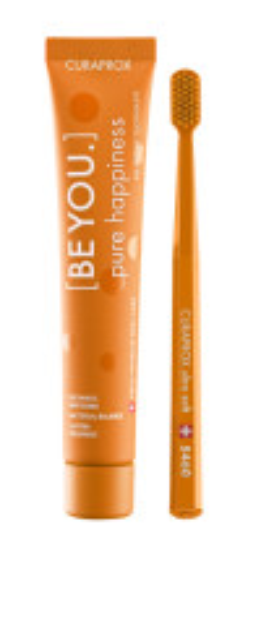 Курапрокс набор зубная паста персик/абрикос 90мл+з/щетка Ультрасофт Be You Orange set