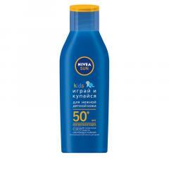 Нивея Сан лосьон солнцезащитный для детей Играй и Купайся SPF50+ 100мл 85503