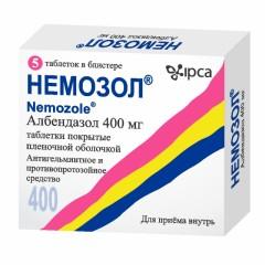 Немозол таблетки п.о 400мг №5