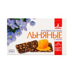 Биокор пластинки льняные хруст. мед №30
