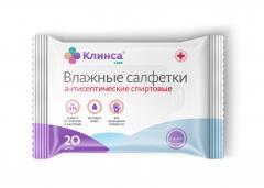 Клинса салфетки влажные антисептические №20