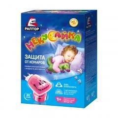 Раптор Некусайка прибор+жидкость от комаров 60ночей для детей