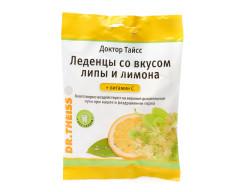 Доктор Тайсс леденцы Липа/лимон/вит. C 50г
