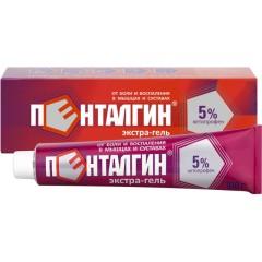 Пенталгин экстра-гель гель д/наруж. применения 5% 100г