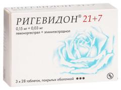 Ригевидон 21+7 таблетки п.о №28