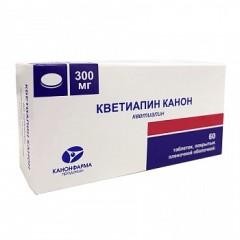 Кветиапин таблетки п.о 300мг №60
