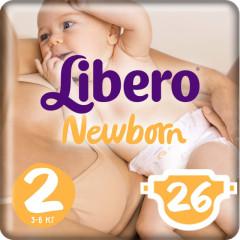 Либеро подгузники Ньюборн мини 3-6кг №26