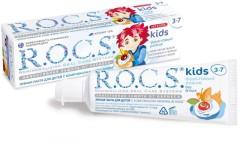 Рокс зубная паста Кидс Фрукт.рожок для детей 3-7лет 45г