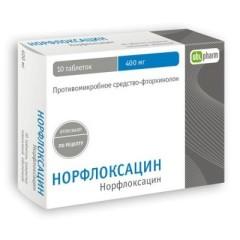 Норфлоксацин таблетки п.о 400мг №10