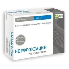 Норфлоксацин таблетки п.о 400мг №20