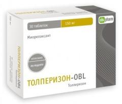 Толперизон-OBL таблетки п.о 150мг №30