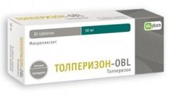 Толперизон-OBL таблетки п.о 50мг №30